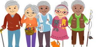 cartoon image of older people