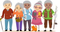 cartoon image of older people