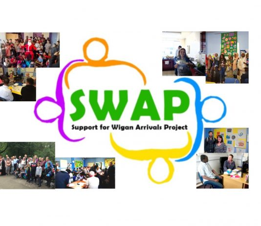 logo for SWAP with pictures