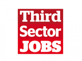 red and white logo for Third Sector