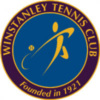 blue purple and gold logo for tennis club