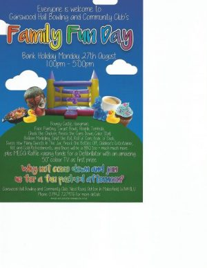poster advertising Garswood-Hall-Family-Fun-Day-on-Bank-Holiday-Monday