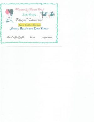 image of ticket giving details of fashion show