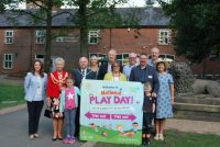 photo of dignitaries at the launch of National Play Day