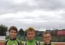 he top three in the Manchester League u-13 Individual Final, l-r: Tom Morrissey, John White, Charlie Burgess.