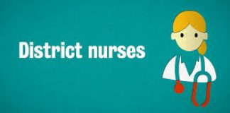 cartoon image representing district nurse