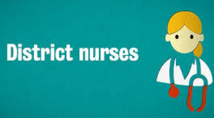 cartoon image representing district nurse