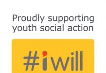 brightly coloured logo for #iwill