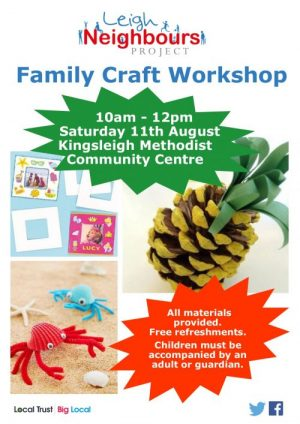 poster advertising craft sessions at Leigh Neighbours