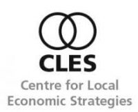 black and white logo for CLES