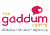 magenta and gold logo for Gaddum