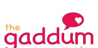 magenta and gold logo for Gaddum