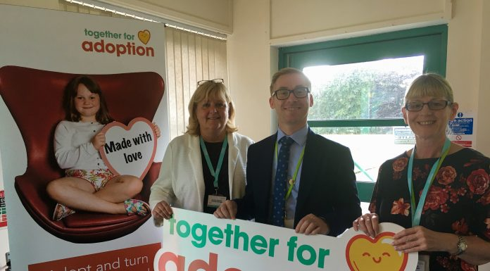 Photo: L-R Amanda Williams, principal adoption manager Together for Adoption; James Winterbottom, director for children's services at Wigan Council; Jill Sudborough, Together for Adoption