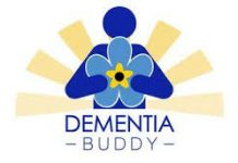 blue and gold dementia buddy logo