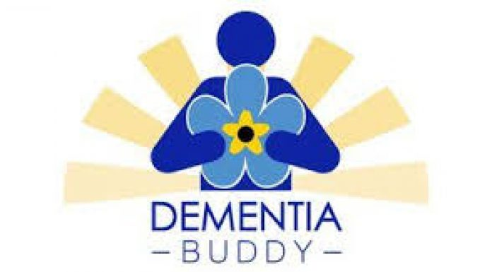 blue and gold dementia buddy logo