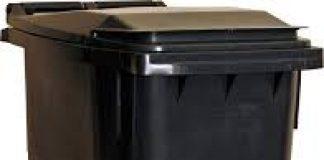 photo of a black wheelie bin