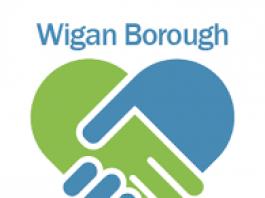 wigan borough community partnership logo