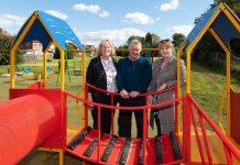Astley ward councillors at the new play area