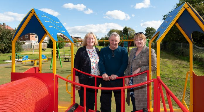 Astley ward councillors at the new play area