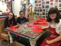 Photo of (L-R) Ann-Marie Graham, Raven Baker, Emily Coyne at Wigan Youth Zone