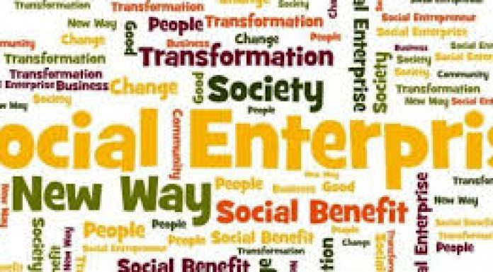 lots o different words in many different colours representing Social Enterprise