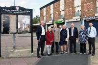 Photo 1: Councillor Phil Kelly, Anne Melling (Worsley Mesnes Residents Association), Councillor Terry Halliwel, Joe Lavin (Chair, Worsley Mesnes Residents Association), Councillor William Rotherham, Eunice Houghton (Worsley Mesnes Residents Association), Peter Collins (Wigan Council, project manager)