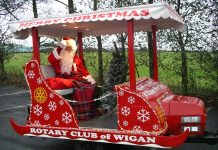 photo of Santa in the Carol Float