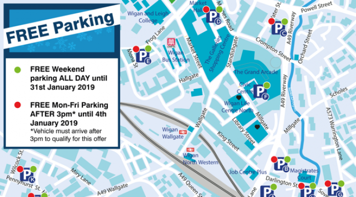 poster showing concessionary car parks