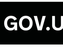 white logo on black background for Gov.uk