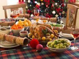 photo of christmas dinner