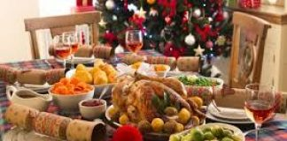 photo of christmas dinner