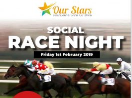 poster giving details for Race Night Social event