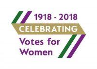 logo for celebrating votes for women