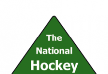 green and white logo for The National Hockey Foundation
