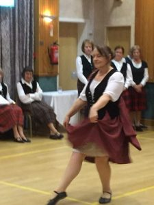 Louise from the Thistle Society giving a display of Irish Dancing