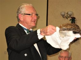 the Haggis is carried in by Stewart Mackay