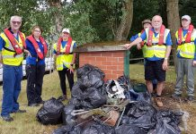 taskforce with canal river trust with bags