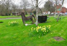 howe bridge - colliers corner and daffodils