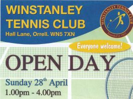 poster advertising Open Day at the Tennis Club