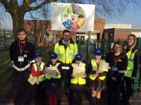 Pupils with APCOA and local PCSO