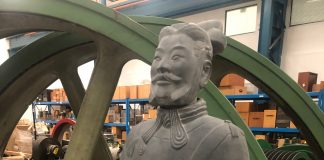 photo of Terracotta warrior Qin Yu.