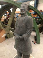 photo of Terracotta warrior Qin Yu.