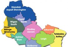 map of wigan borough