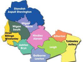map of wigan borough