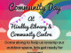 poster giving details of community day