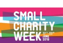 logo for small charity week