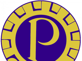 blue and gold logo for Probus