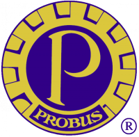 bluea nd gold logo for Probus