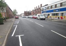 Holden Road after repairs