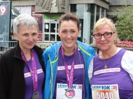 three runners at the 10k race